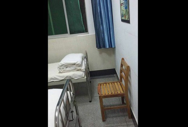 A picture provided by Lao showing the room he stayed at the mental hospital. (RFA)