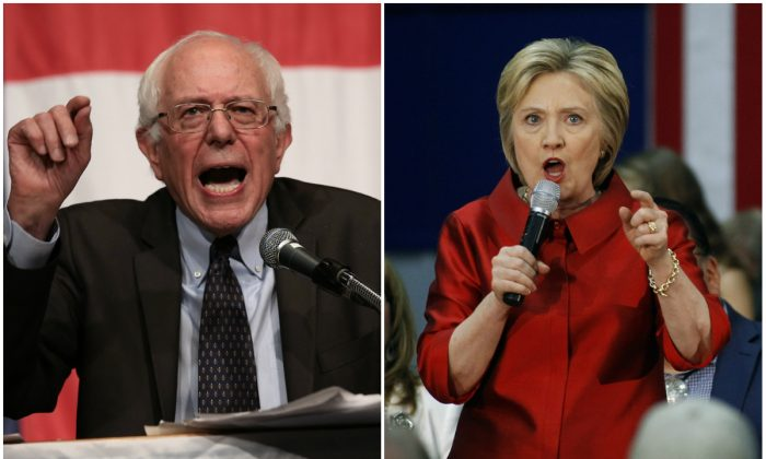 Bernie Sanders and Hillary Clinton. (Win McNamee/Getty Images and Ralph Freso/Getty Images)