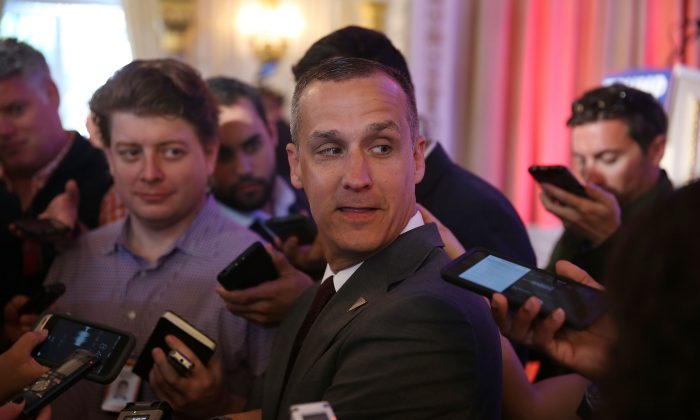 Corey Lewandowski campaign manager for Republican presidential candidate Donald Trump. (Photo by Joe Raedle/Getty Images)