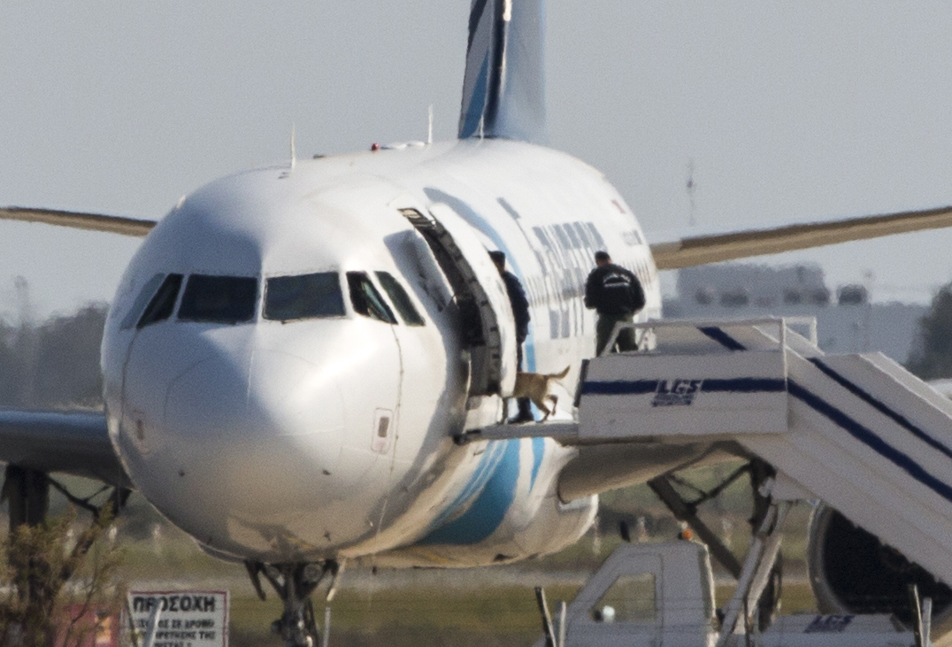 Video: EgyptAir Flight Crew Seen Laughing and Posing With Hijacker