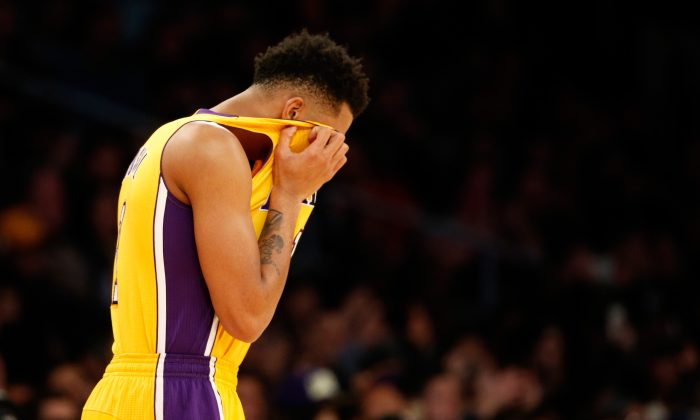 D'Angelo Russell is averaging 13.1 points, 3.4 rebounds, and 3.4 assists per game for the Los Angeles Lakers this season. (Sean M. Haffey/Getty Images)