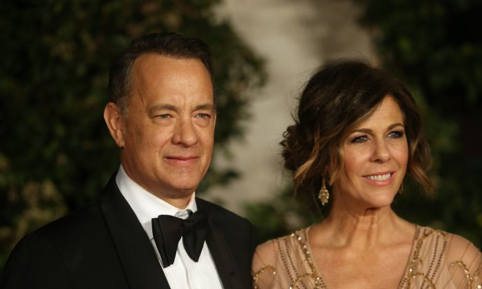 Tom Hanks and Rita Wilson attend an official dinner party after the EE British Academy Film Awards on February 16, 2014 in London, England.  (Photo by Chris Jackson/Getty Images)
