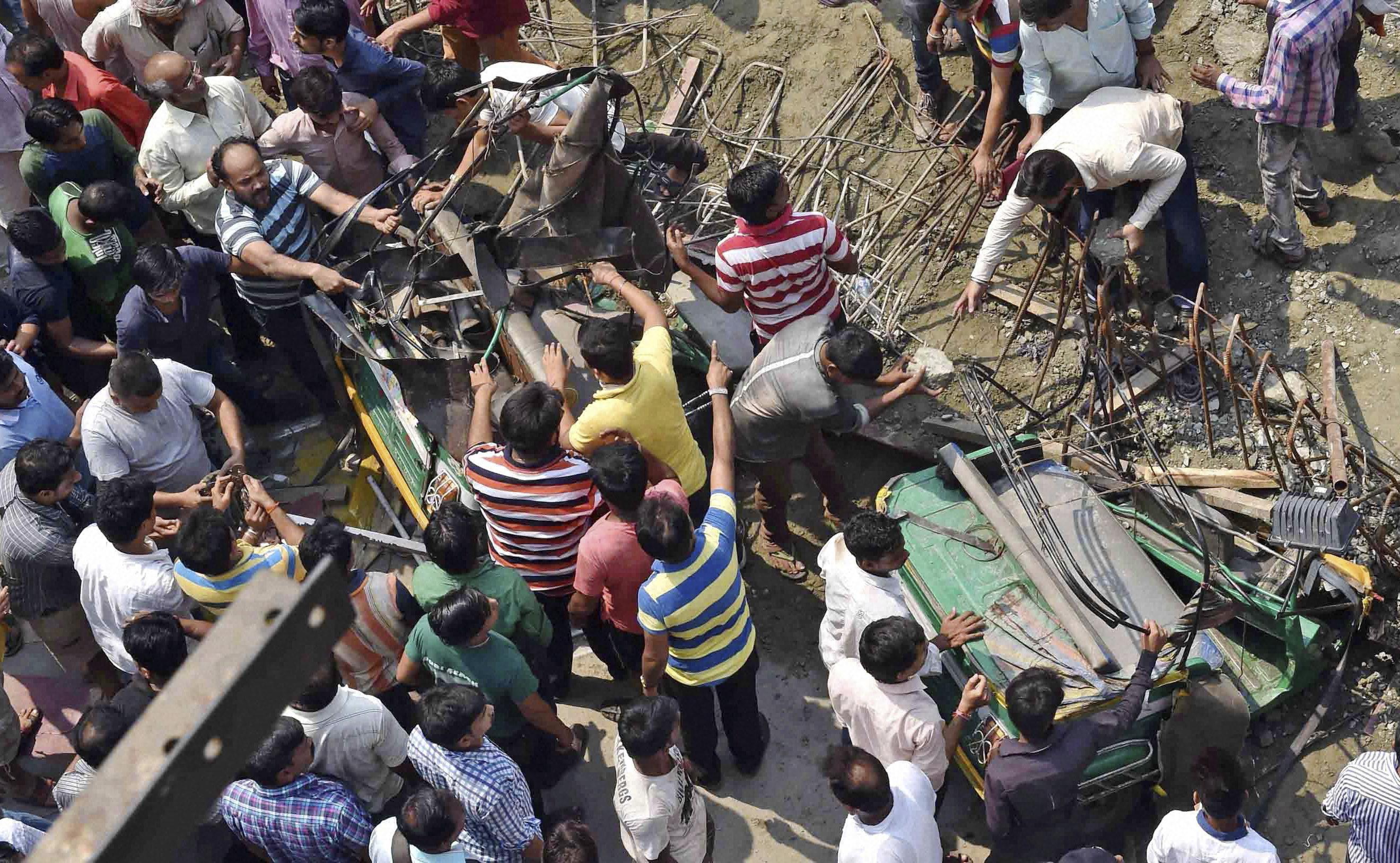 Watch: Moment Kolkata Overpass Collapses, 15 Killed so Far