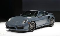 Porsche 911 Catches Fire at NY International Auto Show