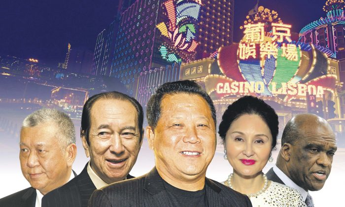 Ng Lap Seng's network involves Stanley Ho, Edmund Ho, anti-corruption campaign is approaching Hong Kong. (Composite by Epoch Times)