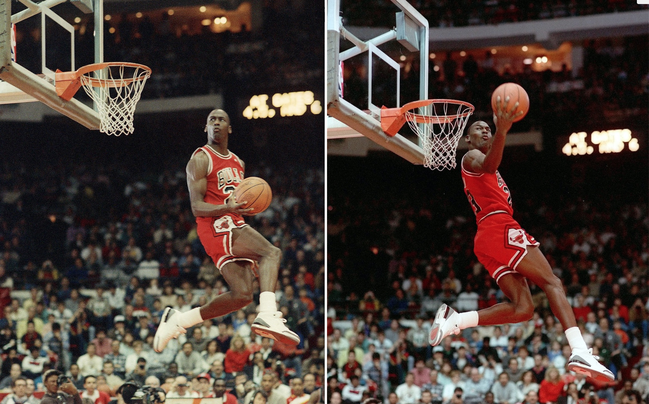 c04a4b086726 NBA Fan Gets Tattoo of Michael Jordan s Famous 1988 Free Throw Line Dunk