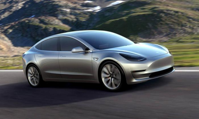 Tesla Model 3. (Courtesy of Tesla)