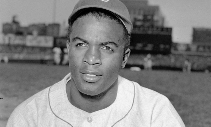 File: Brooklyn Dodgers' infielder Jackie Robinson is shown in this April 18, 1948. (AP Photo)