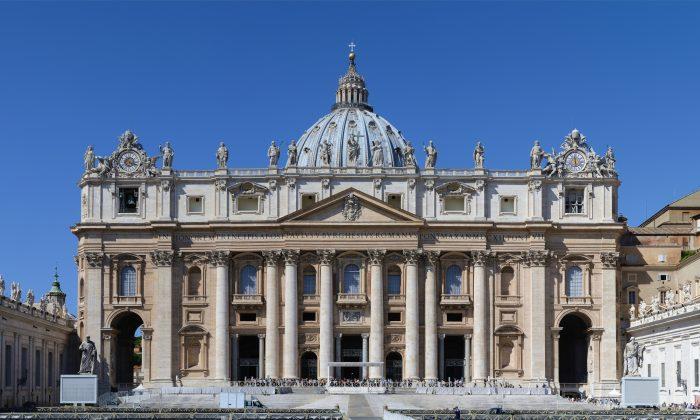 The main facade of St. Peter's Basilica at the Vatican. (Alvesgaspar/Public Domain)