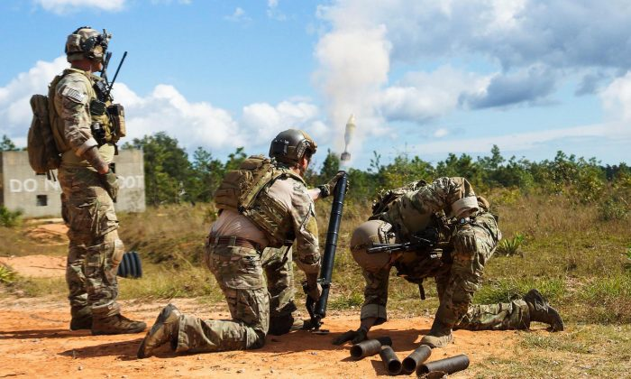 U.S. Army special forces during a training exercise at Hurlburt Field in October 2014.