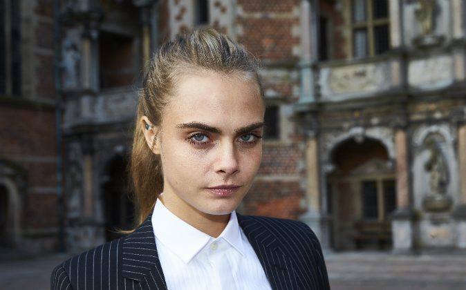 Cara Delevingne attends the 'Jonathan Yeo Portraits' exhibition opening at the Museum of National History at Frederiksborg Castle on March 19, 2016 in Hillerod, Denmark. (Photo by Schiller Graphics/Getty Images)