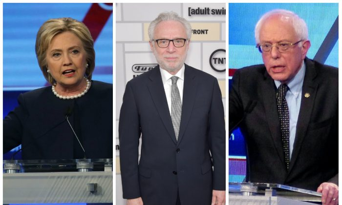 Wolf Blitzer is set to moderate a debate in New York with Hillary Clinton and Bernie Sanders. (Photo by Joe Raedle/Getty Images)