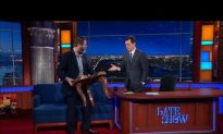 Video: Nick Offerman Gives Stephen Colbert the Perfect Gift
