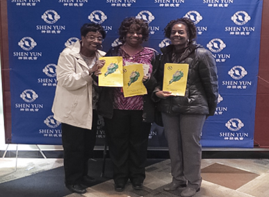 (L–R) Cheryl, Bonda, and Ondrea Blackwell were enthusiastic about Shen Yun after seeing it at Pikes Peak Center on April 5. (Cat Rooney/Epoch Times)