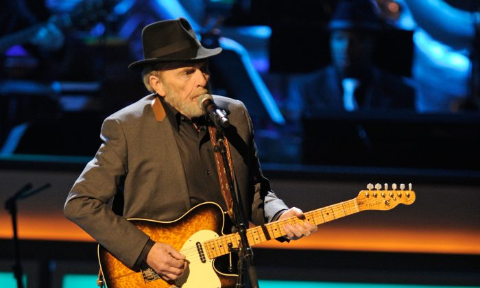 Recording artist Merle Haggard performs during the opening night of The Smith Center for the Performing Arts on March 10, 2012 in Las Vegas, Nevada.  (Ethan Miller/Getty Images for The Smith Center)