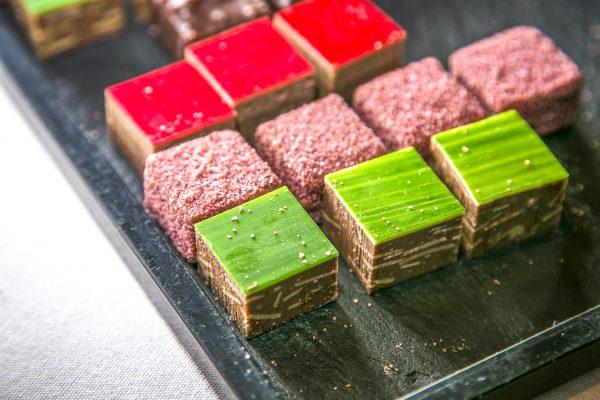 Chocolate bonbons by chef Daniel Rebert (Grand Est, France). (Samira Bouaou/Epoch Times)
