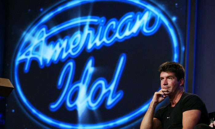 American Idol judge Simon Cowell at the FOX 2002 SummerTCA Tour at the Huntington Ritz Carlton Hotel in Pasadena, CA on Monday, July 22, 2002. Photo credit: Kevin Winter/ImageDirect
