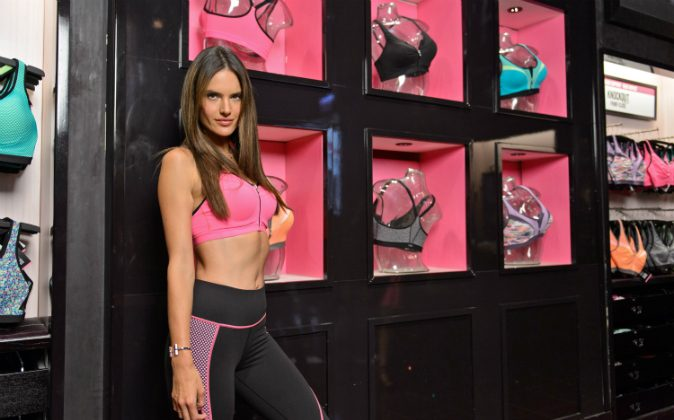 Supermodel Alessandra Ambrosio introduces Knockout By Victoria's Secret At North Michigan Avenue on May 28, 2014 in Chicago, Illinois. (Photo by Daniel Boczarski/Getty Images for Victoria's Secret)