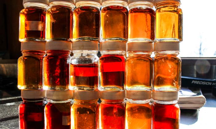 Sample jars from each boil of the season. (Ken Hall)