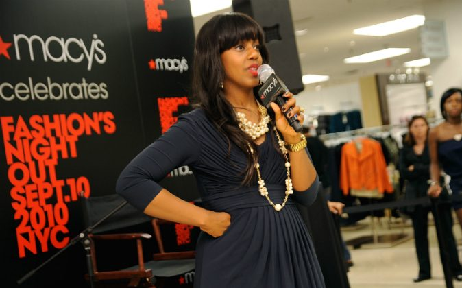 Stylist Daisy Lewellyn hosts the Macy's celebration of Fashion's Night Out at Macy's Queens Center on September 10, 2010 in New York City. (Photo by Gary Gershoff/Getty Images for Macy's)