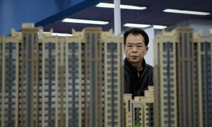 Real estate models are on display in Beijing, on April 9, 2011. (Lintao Zhang/Getty Images)