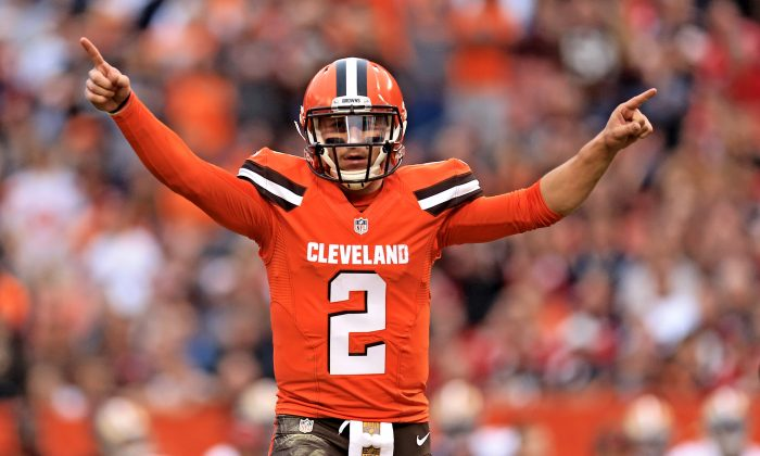 Free agent quarterback Johnny Manziel is still looking for a team to play for in 2016. (Andrew Weber/Getty Images)