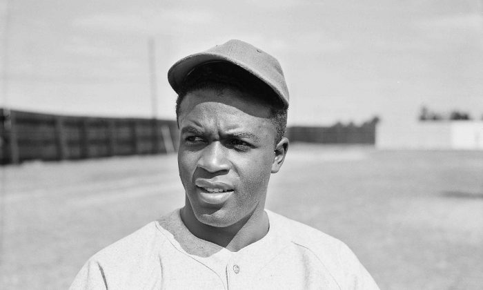 Jackie Robinson of the Montreal Royals is pictured at spring training in Sanford, Fla., March 4, 1946. (AP Photo/Bill Chaplis)