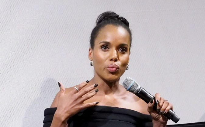 Actress/Execuitive producer Kerry Washington speaks onstage at the NYC Special Screening of HBO Film 'Confirmation' at Signature Theater on April 7, 2016 in New York City. (Photo by Paul Zimmerman/Getty Images for HBO)