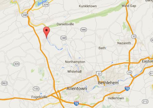 Slatington, Penn. (Screenshot of Google Maps)