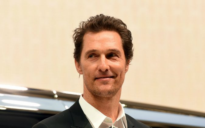 US actor/producer Matthew McConaughey speaks during the unveiling of the Lincoln Navigator concept car during the New York International Auto Show on March 23, 2016.(Photo credit JEWEL SAMAD/AFP/Getty Images)