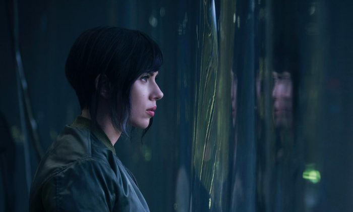 The first shoe of Scarlet Johannson as someone from the upcoming movie Ghost in the Shell. (Paramount Pictures)