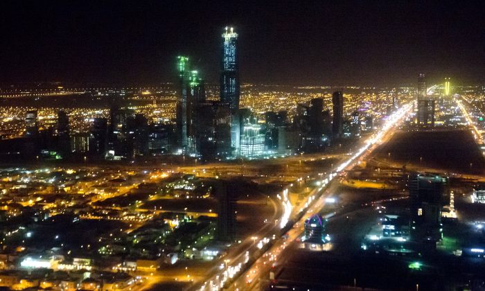 The skyline of Riyadh, Saudi Arabia's capital and largest city, on March 28, 2014. (Saul Loeb/AFP/Getty Images)