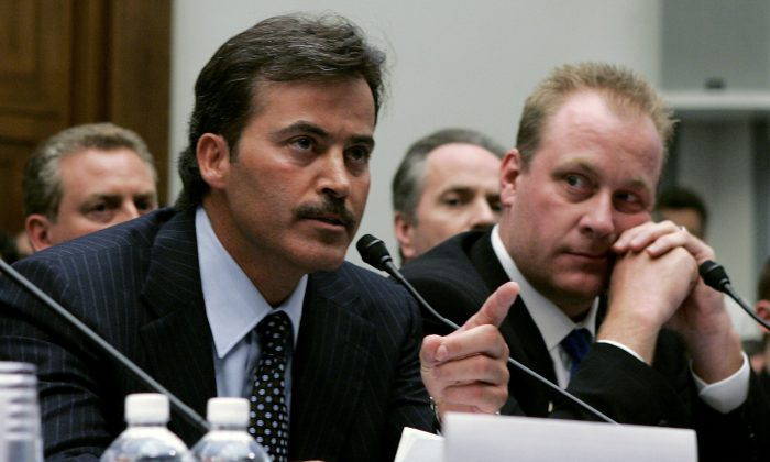 Former MLB slugger Rafael Palmeiro is one of four players to ever hit 500 home runs and collect 3,000 hits, yet he's not in the Hall of Fame. (Mark Wilson/Getty Images)