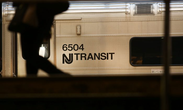 NJ Transit train arrives into the station on March 9, 2016 in Newark, New Jersey. (Photo by Spencer Platt/Getty Images)