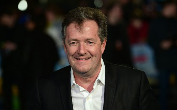 ritish journalist and television personality Piers Morgan poses for a photograph as he arrives for the European premiere of Eddie The Eagle in London on March 17, 2016.(LEON NEAL/AFP/Getty Images)