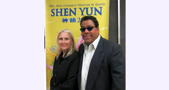 Tamara Danyluck with Roberto Noriego after attending Shen Yun Performing Arts, at the Valley Performing Arts Center in Northridge, Calif., on the evening of April 19, 2016. (Michael Ye/Epoch Times)