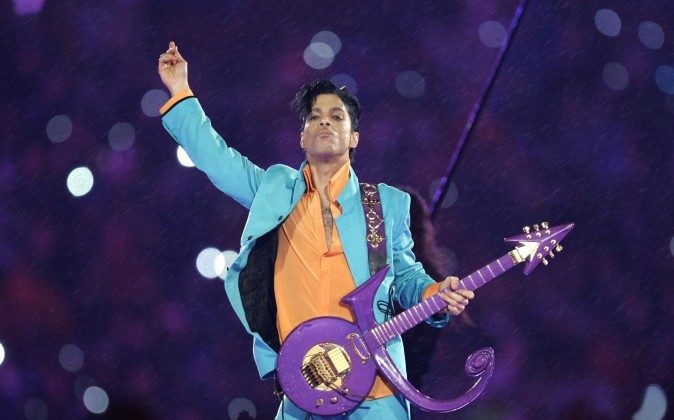 "In this Feb. 4, 2007 file photo, Prince performs during the halftime show at the Super Bowl XLI football game at Dolphin Stadium in Miami. Prince, widely acclaimed as one of the most inventive and influential musicians of his era with hits including ""Little Red Corvette,"" ''Let's Go Crazy"" and ""When Doves Cry,"" was found dead at his home on Thursday, April 21, 2016, in suburban Minneapolis, according to his publicist. He was 57. (AP Photo/Chris O'Meara)"