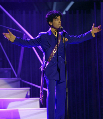 Prince performs during the 46th Annual Grammy Awards in a Los Angeles, Ca. file photo from Feb. 8, 2004.