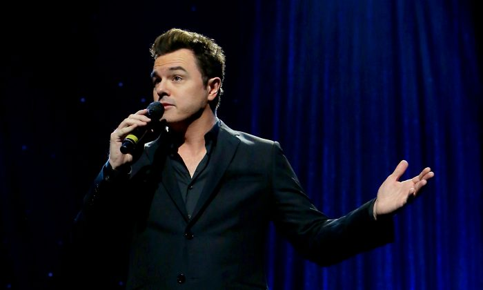 Seth MacFarlane performs onstage during the Thelonious Monk Institute International Jazz Vocals Competition 2015 at Dolby Theatre on November 15, 2015 in Hollywood, California.  (Photo by Rachel Murray/Getty Images for Thelonious Monk Institute of Jazz)