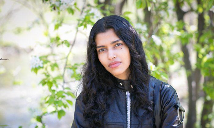 Fashion model Pooja Mor in Central Park on April 19, 2016. (Samira Bouaou/Epoch Times)