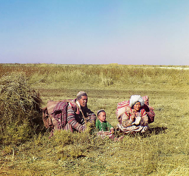 Nomadic Kirghiz. Golodnaia Steppe, between 1905 and 1915. (