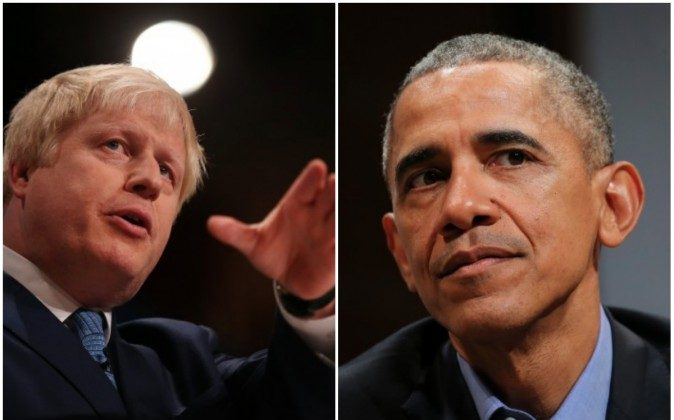 London's Mayor Boris Johnson and President of the United States Barack Obama. (Peter Macdiarmid/Getty Images and Neilson Barnard/Getty Images)