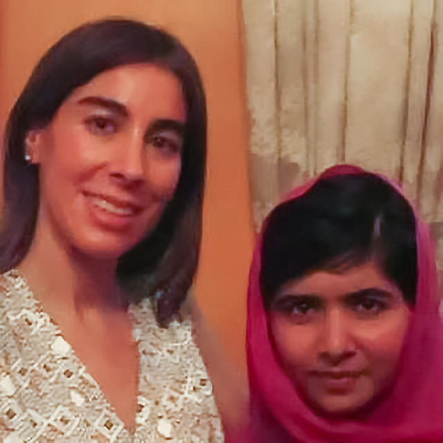 Dra. Luz Maria Utrera with Malala Yousafzai at the Pakistani ambassador's home in New York on July 13, 2013. (LuzMariaFoundation.org)