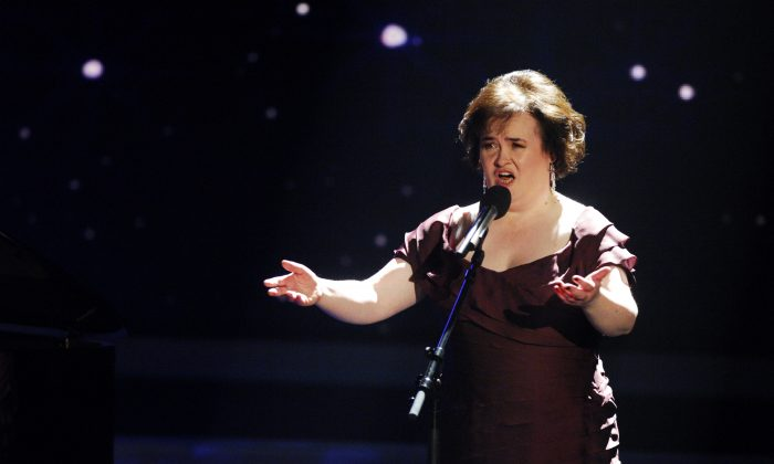 Susan Boyle performs during the 3rd semi final of the TV show 'Das Supertalent' on December 12, 2009 (Stefan Menne/Getty Images)