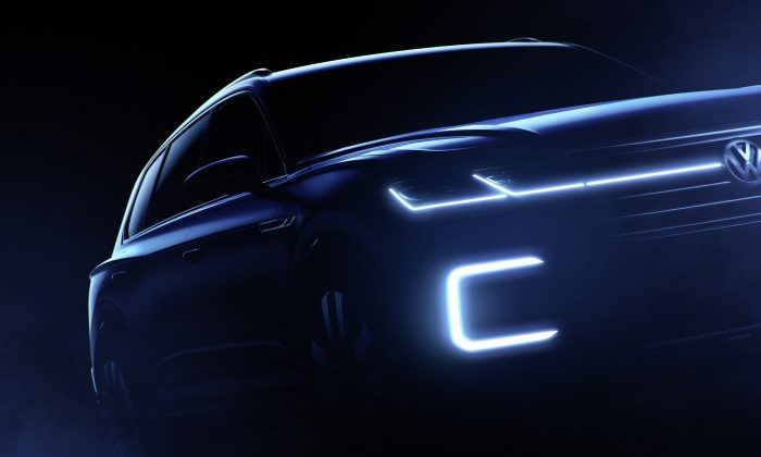 The Volkswagen Beijing SUV concept teaser. (Photo courtesy of Volkswagen of America Inc.)