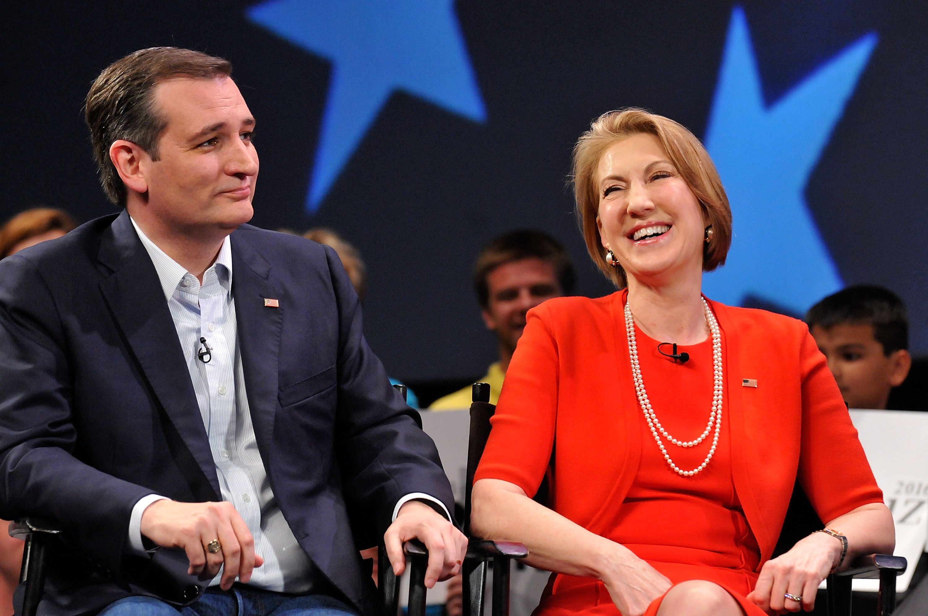 Cruz: 'Carly may become the first vice president in history to have a very impressive fluency with heart and smiley face emoticons'