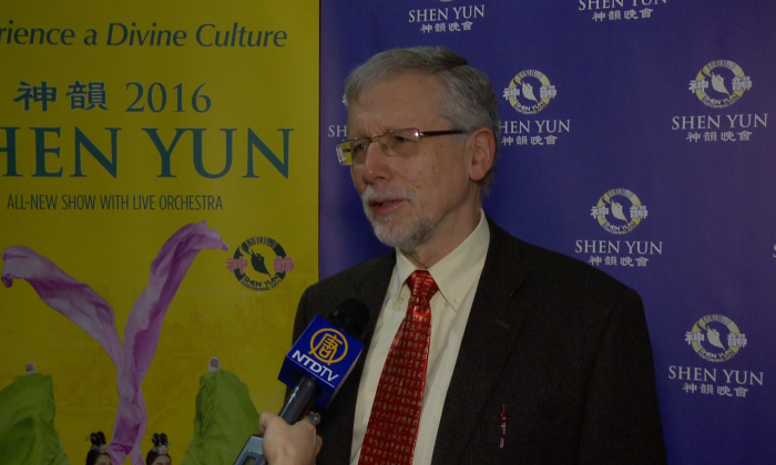 Ryerson University professor Tim Sly attended Shen Yun Performing Arts at the Living Arts Centre in Mississauga, Canada on April 27, 2016. (NTD)
