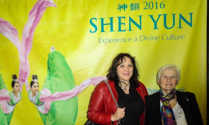 Teacher Bozica Sajatovic and her mother, Maria, enjoyed Shen Yun Performing Arts at the Living Arts Centre in Mississauga on April 27, 2016. (Madalina Hubert/Epoch Times)
