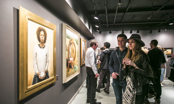 The RESIDENTS group exhibition of Grand Central Atelier artists at Eleventh Street Arts in Long Island City, Brooklyn, on April 15. (Samira Bouaou/Epoch Times)