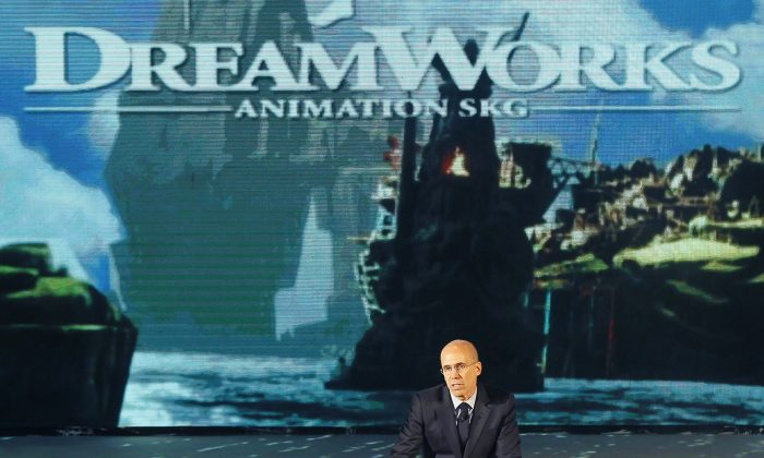 In this Thursday March 20, 2014, file photo, Jeffrey Katzenberg, CEO of DreamWorks Animation, speaks in Shanghai. (AP Photo)